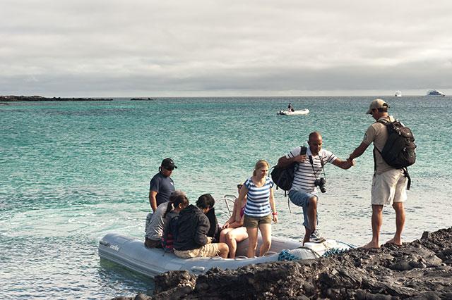 Galapgos islands dry landing