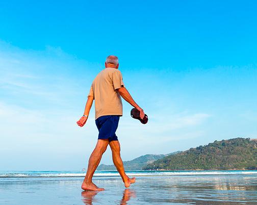 Seniors walking in Galapagos