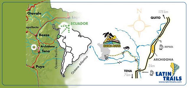 Lodge Hakuna Matata | Mapa del Lodge Amazónico | Ecuador