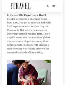 World Travel   Illa Experience Hotel