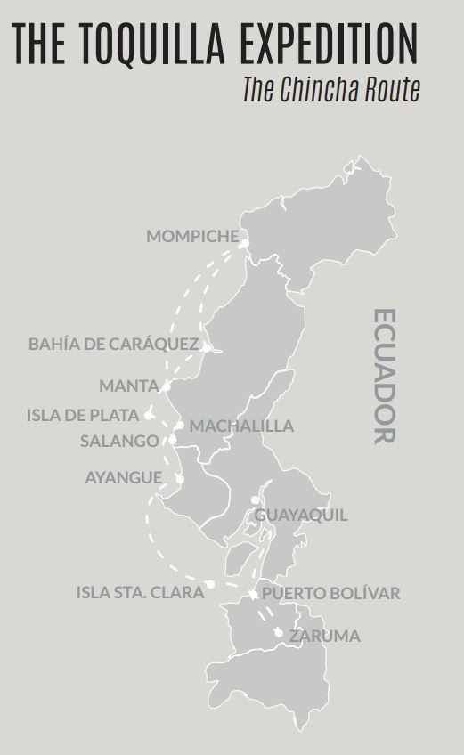 Toquilla Expedition Map